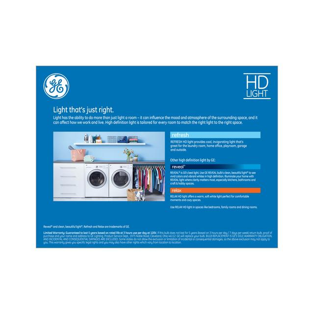 Paquet de retour de GE Refresh HD Daylight 85W Remplacement AMPOULE LED Projecteur intérieur BR40