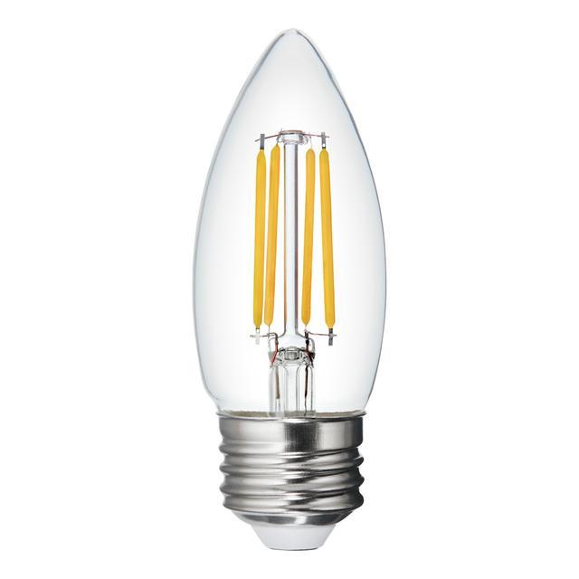 Image du produit de Relax HD Soft White 40W Remplacement LED Clear Decorative Blunt Tip Medium Base BM Light Bulbs (3-Pack)