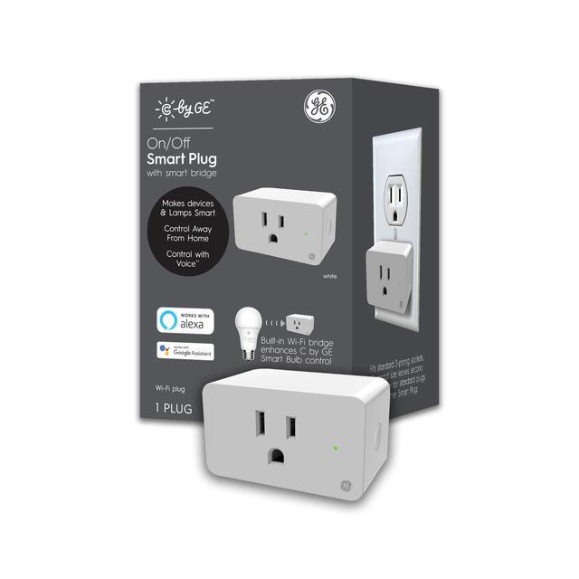 Ensemble avant de GE C by GE 120 volt-volt-volt 1 prise intérieure smart plug (l'emballage peut varier)