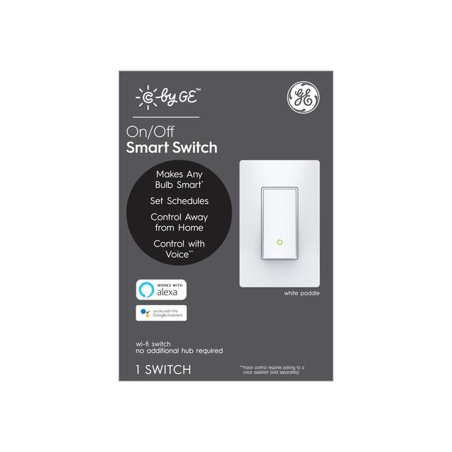 Paquet avant de C by GE On / Off 4-Wire Smart Switch-Paddle (1-Pack)