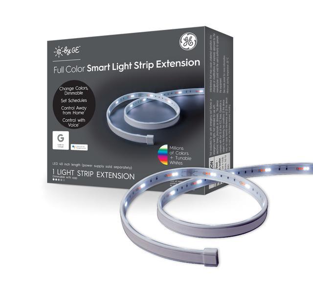Emballage avant de GE C by GE 40-in Plug-in Smart Strip sous les lumières de l'armoire - Nécessite C by GE Light Strip (L'emballage peut varier)