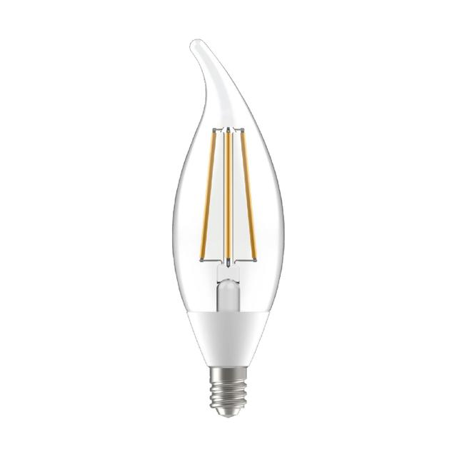 Product Image of LED+ Dusk to Dawn Daylight 60W Replacement LED Decorative Bent Tip Candelabra Base CAC Light Bulbs (2-Pack)