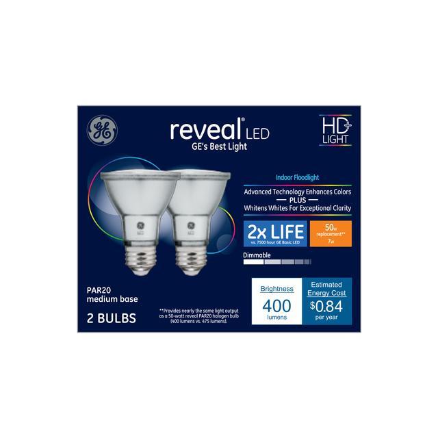 Ensemble avant de Reveal HD+ Color-Enhancing 50 W Remplacement ampoule LED Éclairage intérieur floodlight PAR20
