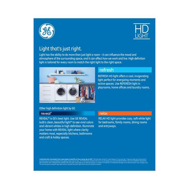 Paquet arrière de GE Refresh HD Daylight 65W Projecteur intérieur LED de remplacement BR30 Ampoules de lumière (6-Pack)