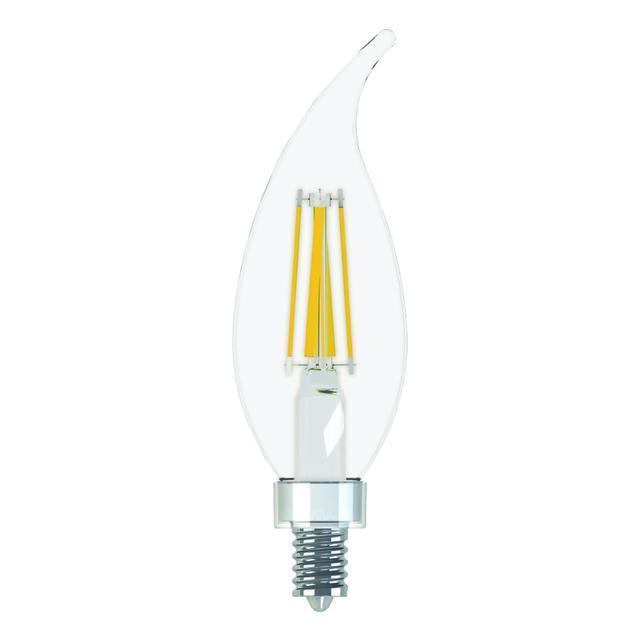 Image produit de GE Refresh HD Daylight 60W Remplacement ampoules LED Décorative Clear Bent Tip Candélabre Base CAC (2-Pack)