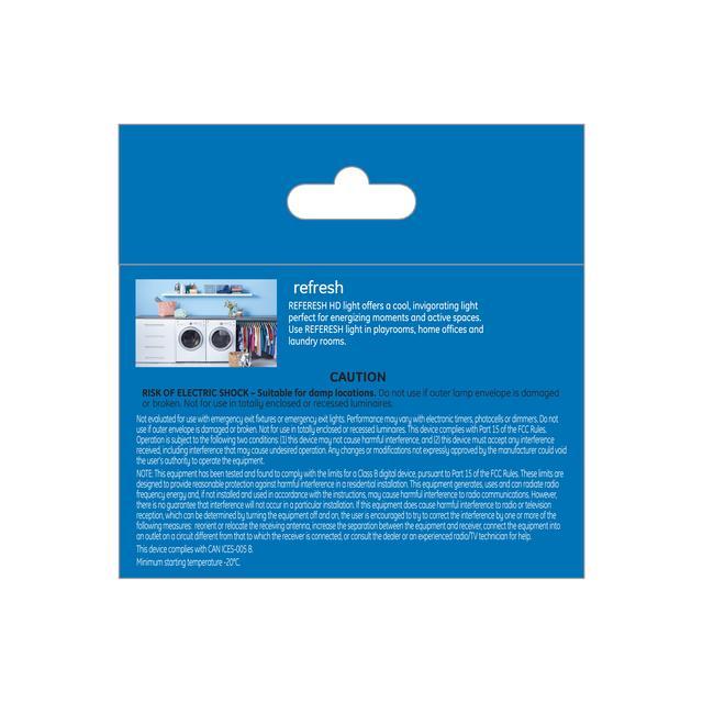 Paquet arrière de Refresh HD Daylight 40W Ampoules LED de remplacement Décoratif Clear Globe Candélabre Base G16.5
