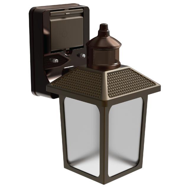 Ensemble avant de GE LED + Linkable Motion Soft White 60 W Remplacement intégré LED Outdoor Coach Luminaire (1-Pack)