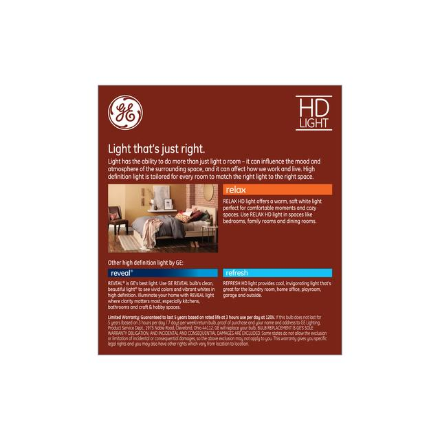 Paquet de dos de Relax HD Soft White 60W Remplacement LED Clear Decorative Blunt Tip Candelabra Base BC Ampoules de lumière (6-Pack)