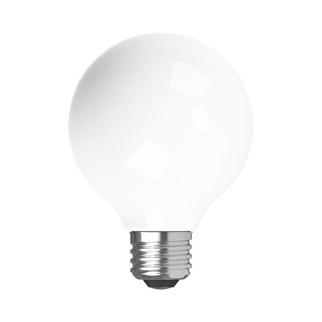 Image de produit de GE Relax HD Soft White 40W Ampoules LED de remplacement Globe décoratif Blanc Medium Base G25 (2-Pack)