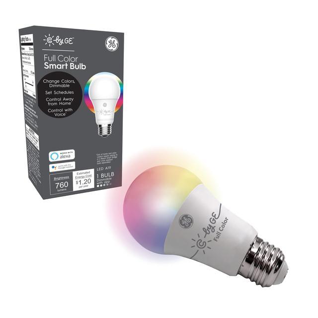 Paquet avant de C by GE Full Color A19 Smart LED Bulb (1-Pack)