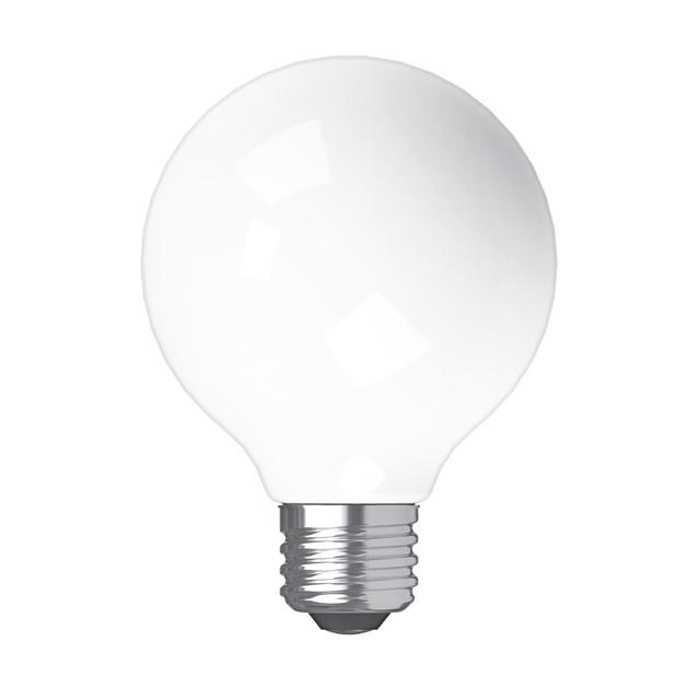 Image de produit de GE Refresh HD Daylight 60W Ampoules LED de remplacement Globe décoratif Blanc Base moyenne G25 (2-Pack)