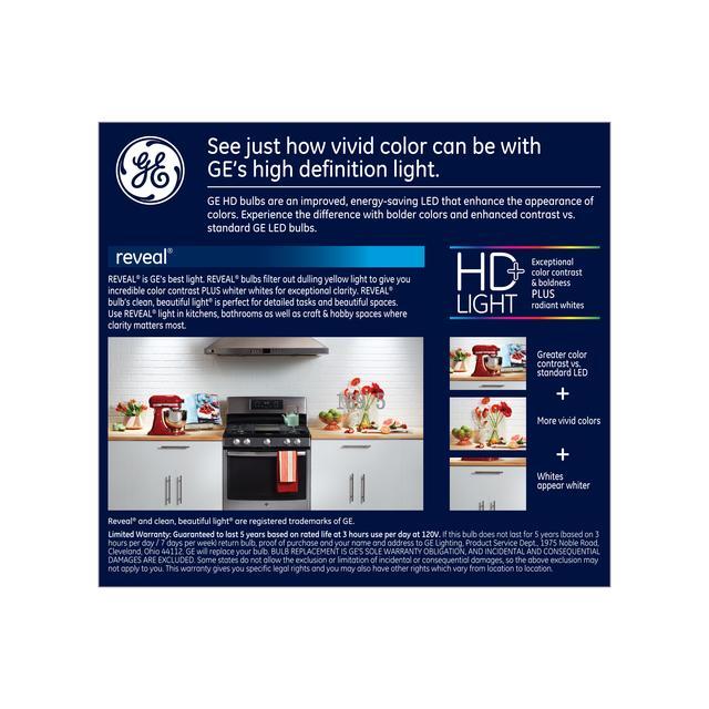Paquet de dos de GE Reveal HD+ Color-Enhancing 65W Remplacement ampoules LED Projecteur intérieur BR30 (2-Pack)