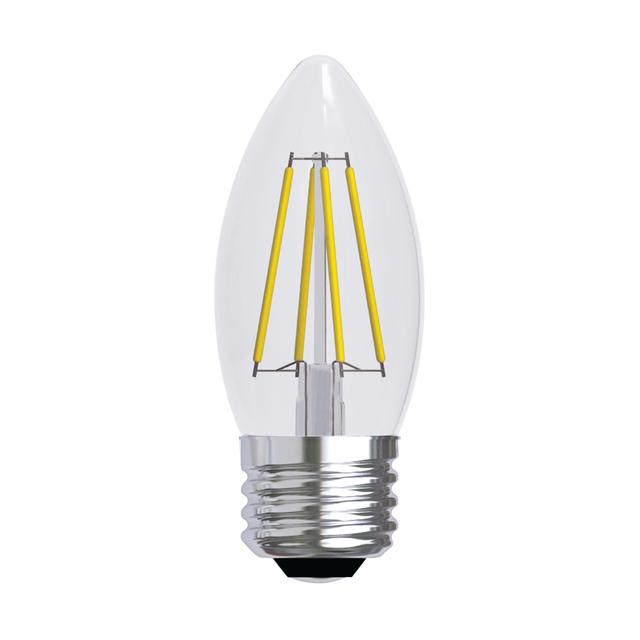 Image de produit de GE Relax HD Soft White 40W Ampoules LED de remplacement Décoratif Clear Blunt Tip Medium Base BM (2-Pack)