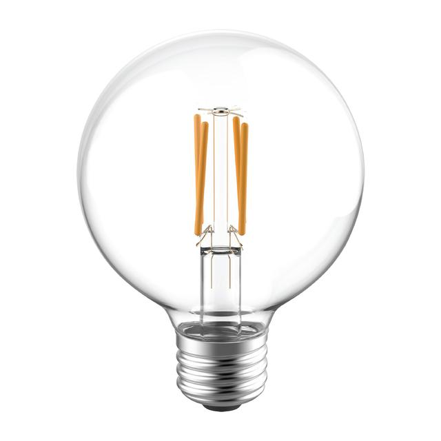 Image de produit de GE Reveal HD+ Écouleurs LED de remplacement de 60 W améliorant la couleur, 2-Pack, Clair, Décoratif, Globe, Ampoules LED dimmables, Base moyenne, G25