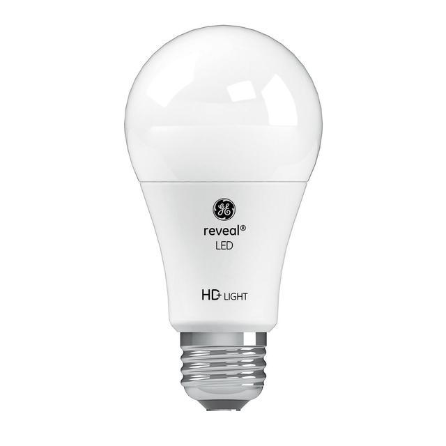 Image du produit de GE Reveal HD+ Ampoule led de remplacement de 60 W à usage général A19 écouleur de couleur (1-Pack)