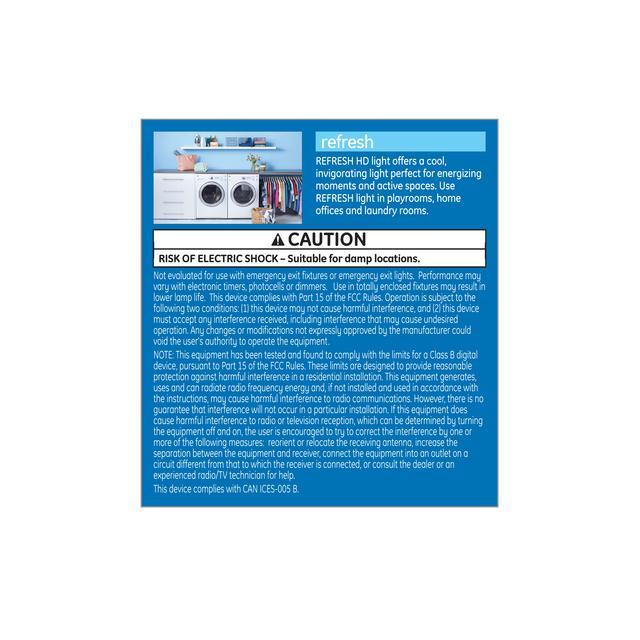 Paquet arrière de Refresh HD Daylight 45W Ampoules LED de remplacement Projecteur intérieur R20 (2-Pack)