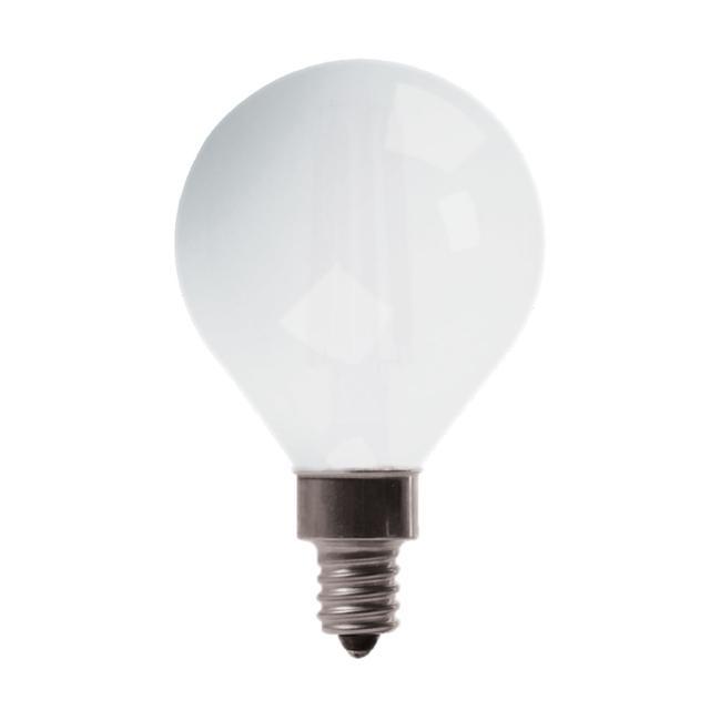 Image du produit de GE Relax HD Soft White 40W Ampoules LED de remplacement Globe décoratif Base de candélabre blanc G16 (2-Pack)