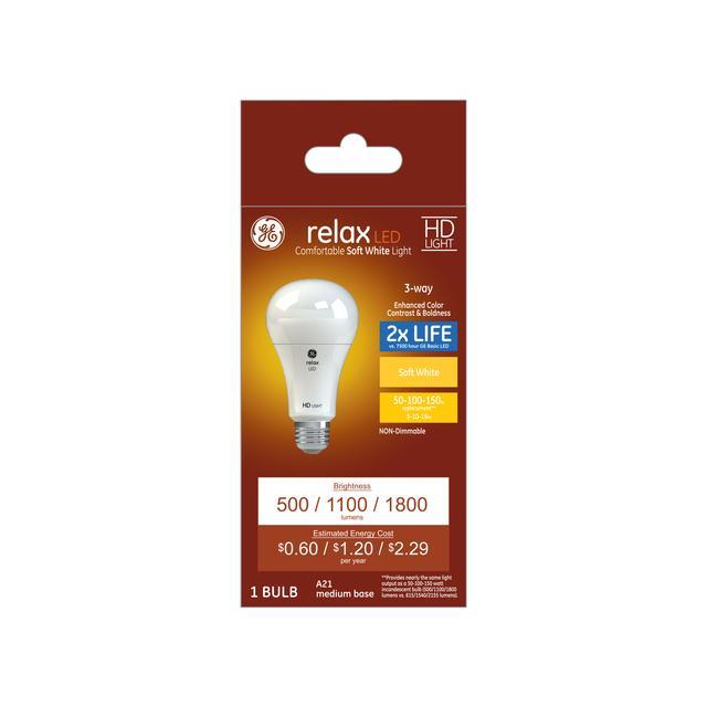 Paquet avant de Relax HD Soft White 150 W Remplacement ampoules LED à usage général A21