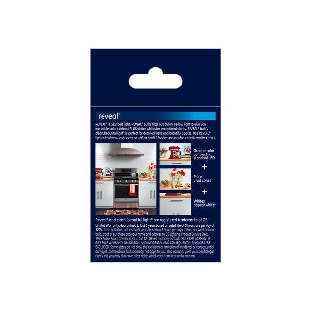 Paquet arrière de GE Reveal HD+ Lumier LED de remplacement de 45W améliorant la couleur R20 (1-Pack)