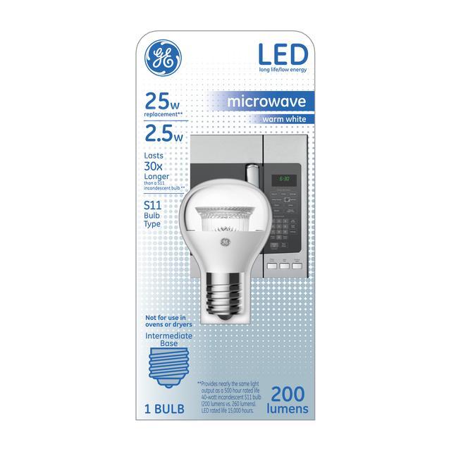 Ensemble avant de la spécialité chaude blanche d'ampoule 25 W de remplacement de LED S11